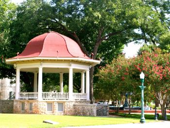 Historic Bandstand on Main Plaza downtown New Braunfels