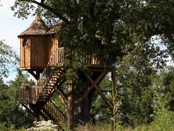 Cabane-LANDAISE-Confort-Salle de bain Privée-Terrasse