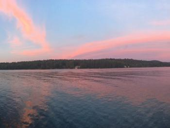 sunset view on Friends Lake