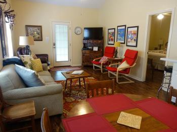Texas Cottage Living Room & private entrance