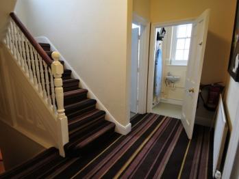 Hallway, bathroom and WC