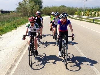 Women's cycling training camp with www.GironaCycling.com