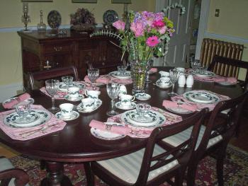 The dining room in the Bed and Breakfast