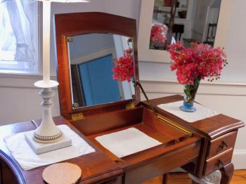 Vanity in the Blue guest room
