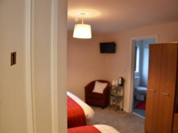 Room 1: 1x Double Bed, 1x Single Bed with En-Suite