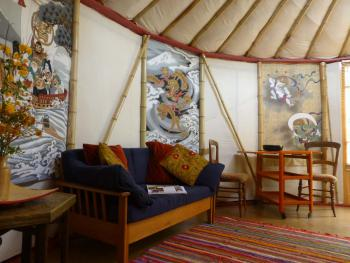 Waterfall Pagoda Yurt interior