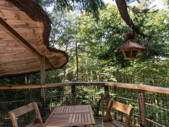 Double-Prestige-Salle de bain Commune-Terrasse-Cabane HIBOU Aventure