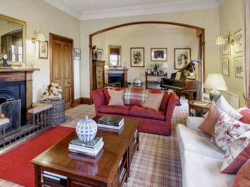 Drawing room in Alladale Lodge