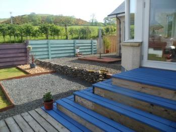 Patio area rear garden