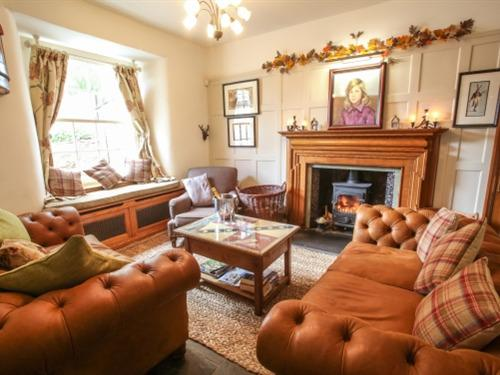 Enjoy a coffee or tea in our comfortable lounge by one of our fires