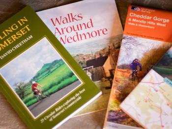 Maps and books available for walkers and cyclists.