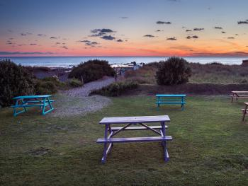 Private beach access & beer garden