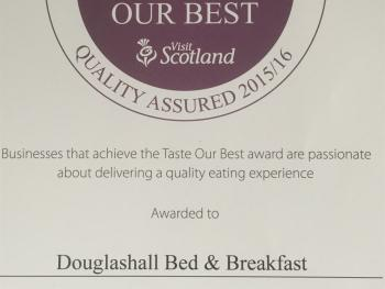 A RECENT AWARD FROM VISITSCOTLAND