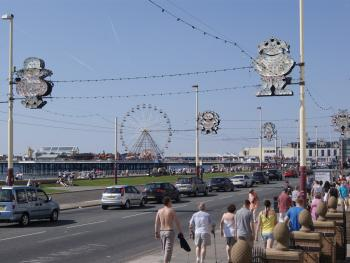 View from the Front Entrance and Sun Lounge-Showing Promenade and Central Pier.