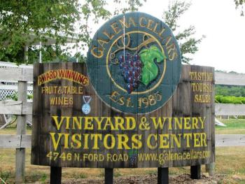 Welcome Sign at Galena Cellars Vineyard & Winery