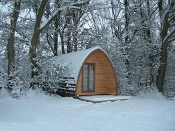 Hobbits Lodge in the Snow