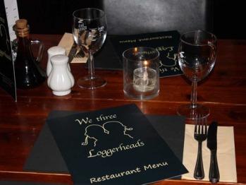 restaurant table ready for dinner