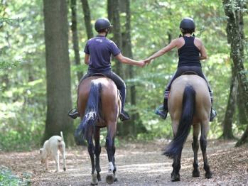 balade à cheval en amoureux