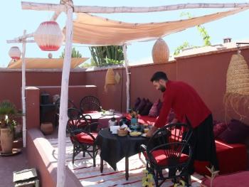 Riad Dar Malak - Solarium et petits déjeuners