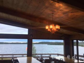 Lodge Dinning Room with Lake View
