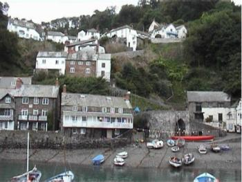Clovelly village from the sea