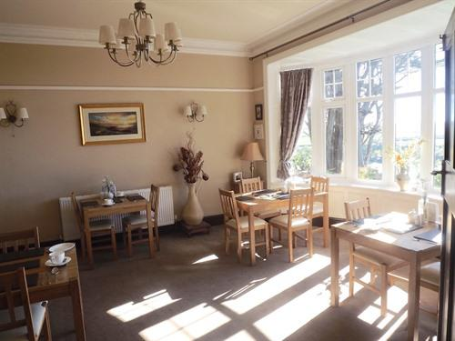 Breakfast room with stunning views of Cardigan Bay