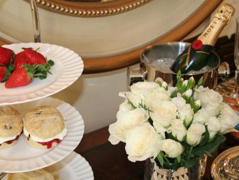 Afternoon tea in The Garden View Suite