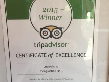 A RECENT AWARD FROM TRIP ADVISOR