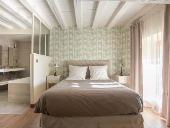 Le lit de la chambre Coulanges