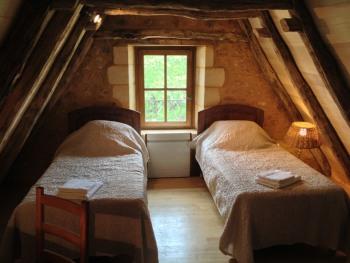 chambre avec twins beds