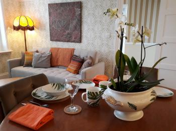 The Lounge/Dining area of the Dolphin Annex Apartment.  A self contained ground floor apartment.