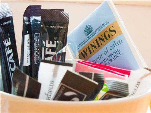 A full range of teas in your hospitality tray