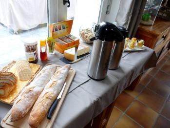 La Garonde Maison d'Hôtes. Petit déjeuner savoureux. Produits locaux.