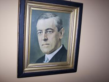President Woodrow Wilson portrait in Woodrow Wilson Suite