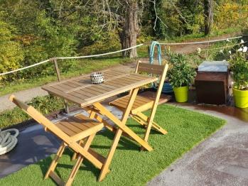 terrasse privative aménagée