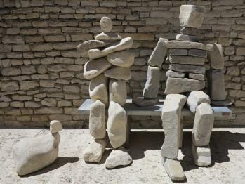 """Accueil par la sculpture """"L'Eternel"""""""
