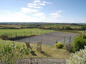 OUR TENNIS COURT AND A FRACTION OF OUR FAB VIEW!