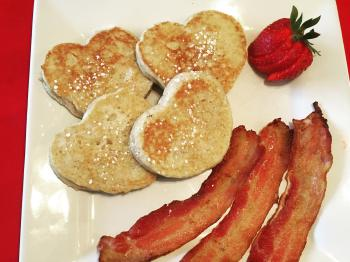 Romantic Pancakes and Bacon