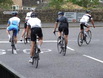 Cyclists en route to Bakewell
