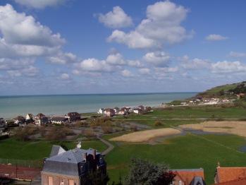 La vue sur la mer et la vallée de Pourville