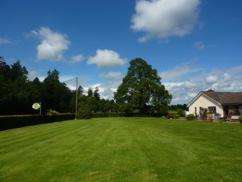 View across garden towards B&B