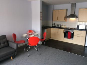 Liverpool Modern Apartment - Lounge to Kitchen View