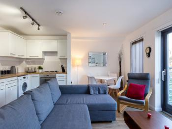 Stylish Stays – Mackintosh Lane - open plan living room dining area and kitchen