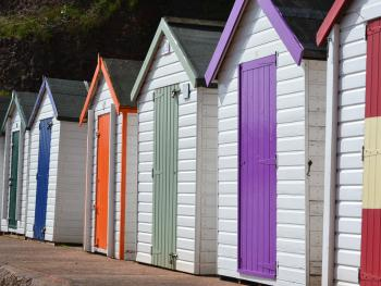 Beach huts at Goodrington