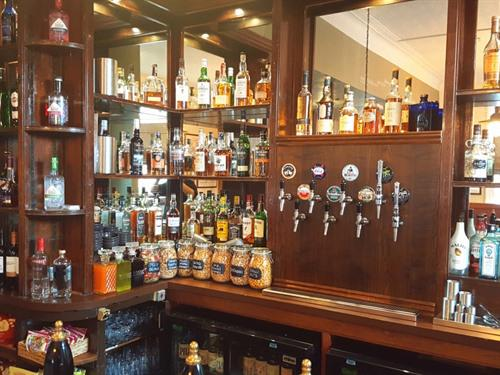 Our well stocked bar.