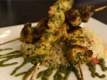The Albany, Guildford | Morrocan Chicken Skewers
