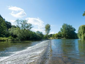 Just a short stroll to the wonderful weirs on the River Teme