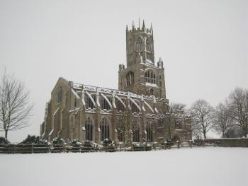 Fotheringhay in the snow