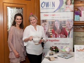 Oxford Women in Networking (OWIN) Social Tea. Left: owner Alida Joubert.