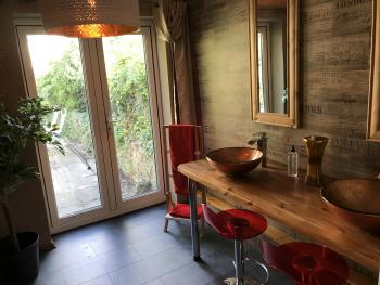 Bathroom area in Caerphilly Suite